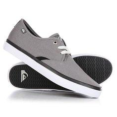 Кеды кроссовки низкие Quiksilver Shorebreak Grey/Black/White