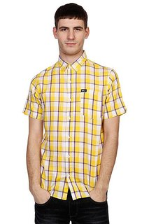 Рубашка в клетку K1X La Check Short Sleeve Shirt Yellow/Violet