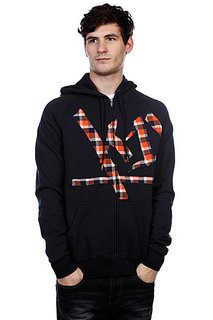 Толстовка K1X Wrap Around Check Hoody Navy/Flame/Egret