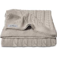 Вязаный плед (косичка) 75х100 см, Jollein, Sand