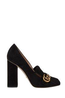Замшевые туфли Gucci