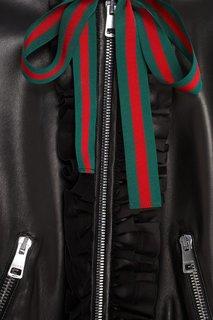 Кожаный бомбер Gucci