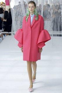 Пальто с воланами Delpozo
