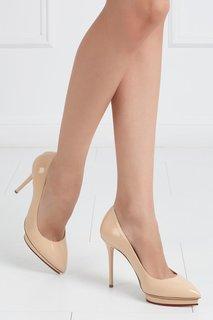 Кожаные туфли Debbie Covered Platform Charlotte Olympia