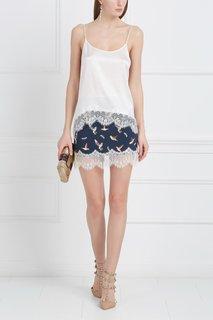 Шелковая юбка с кружевом «Птички» Esve