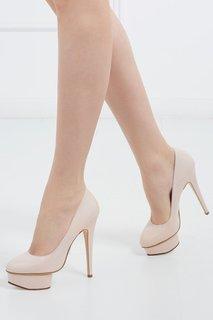 Туфли из лакированной кожи Dolly Covered Platform Charlotte Olympia