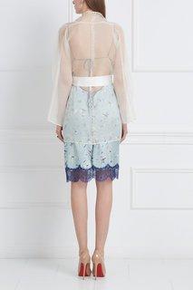 Шелковое платье-комбинация «Птички» Esve