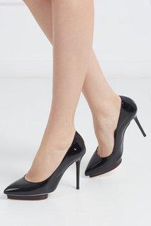Туфли из лакированной кожи Debbie Covered Platform Charlotte Olympia