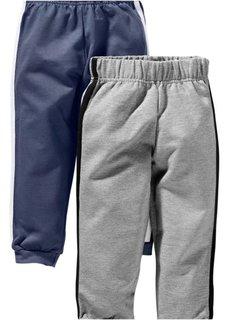 Трикотажные брюки (2 шт.) (темно-синий + зеленый) Bonprix
