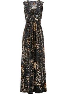 Трикотажное платье с принтом (коричневый с рисунком) Bonprix
