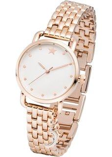 Часы с подвеской биколор и металлическим браслетом (серебристый) Bonprix