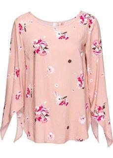 Классика гардероба: блузка (черный в цветочек) Bonprix