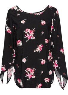 Классика гардероба: блузка (розовый в цветочек) Bonprix