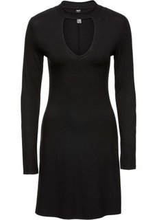 Трикотажное платье с чокером (петролевый) Bonprix