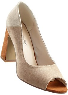 Туфли с открытым носком (серый/черный) Bonprix
