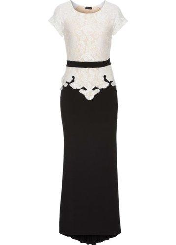 Вечернее платье (кремовый/маджента)