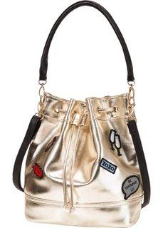 Мягкая сумка с заплатками от Marcell von Berlin для bonprix (темно-синий)