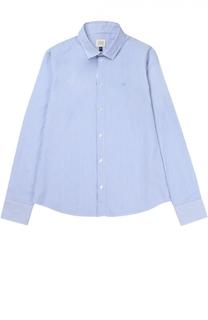 Рубашка из хлопка с рисунком в полоску Giorgio Armani