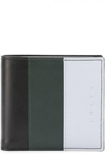 Кожаное портмоне с отделениями для кредитных карт и монет Marni