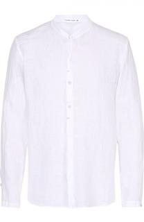 Льняная рубашка с воротником-стойкой Transit