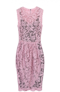 Кружевное мини-платье с драпировкой Dolce & Gabbana
