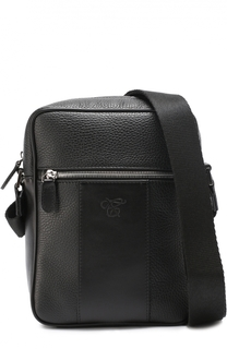 Кожаная сумка-планшет с внешним карманом на молнии Canali