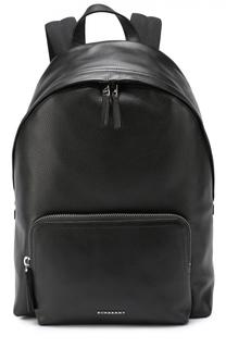 Кожаный рюкзак с внешним карманом на молнии Burberry