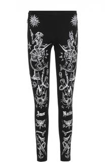 Хлопковые брюки-скинни с контрастным принтом Givenchy