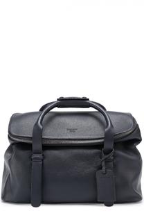 Кожаная дорожная сумка с плечевым ремнем Giorgio Armani