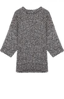 Пуловер фактурной вязки с укороченным рукавом Joseph