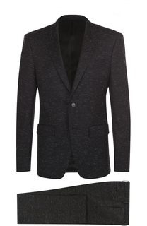 Костюм из смеси шерсти и хлопка с пиджаком на двух пуговицах Givenchy