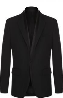 Шерстяной приталенный пиджак с шелковой отделкой Givenchy