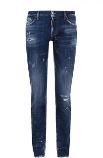 Зауженные джинсы с декоративными потертостями Dsquared2