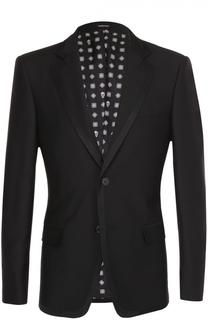 Однобортный приталенный пиджак из смеси шерсти и вискозы Alexander McQueen