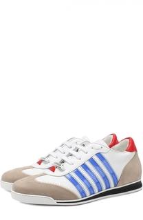 Комбинированные кроссовки New Runners с контрастной отделкой Dsquared2