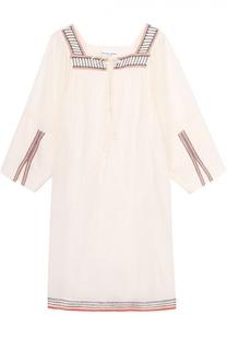 Мини-платье прямого кроя с укороченным рукавом Apiece Apart