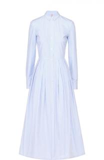 Приталенное платье-рубашка в контрастную полоску Stella Jean