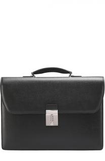 Кожаный портфель с плечевым ремнем Canali