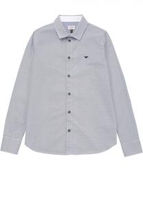 Рубашка из хлопка с принтом Giorgio Armani