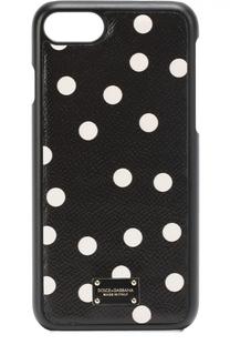Кожаный чехол для iPhone 7 с принтои Dolce & Gabbana