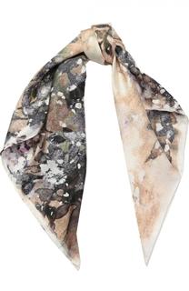Шелковый платок с принтом Elie Saab