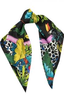 Шелковый шарф с принтом Parrots Marc Jacobs