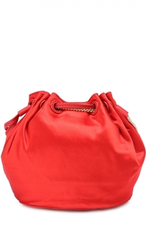 Сумка Mini Drawstring Bucket из атласа Diane Von Furstenberg