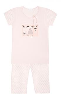 Пижама из модала с принтом La Perla