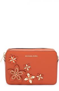Сумка на молнии с аппликацией Flowers MICHAEL Michael Kors