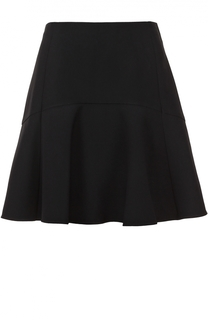 Мини-юбка А-силуэта с оборкой Chloé