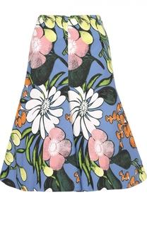 Расклешенная юбка-миди с цветочным принтом Marni