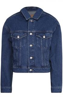 Укороченная джинсовая куртка свободного кроя Balenciaga