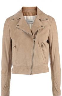 Замшевая куртка Yves Salomon