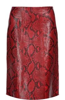 Кожаная юбка Marni
